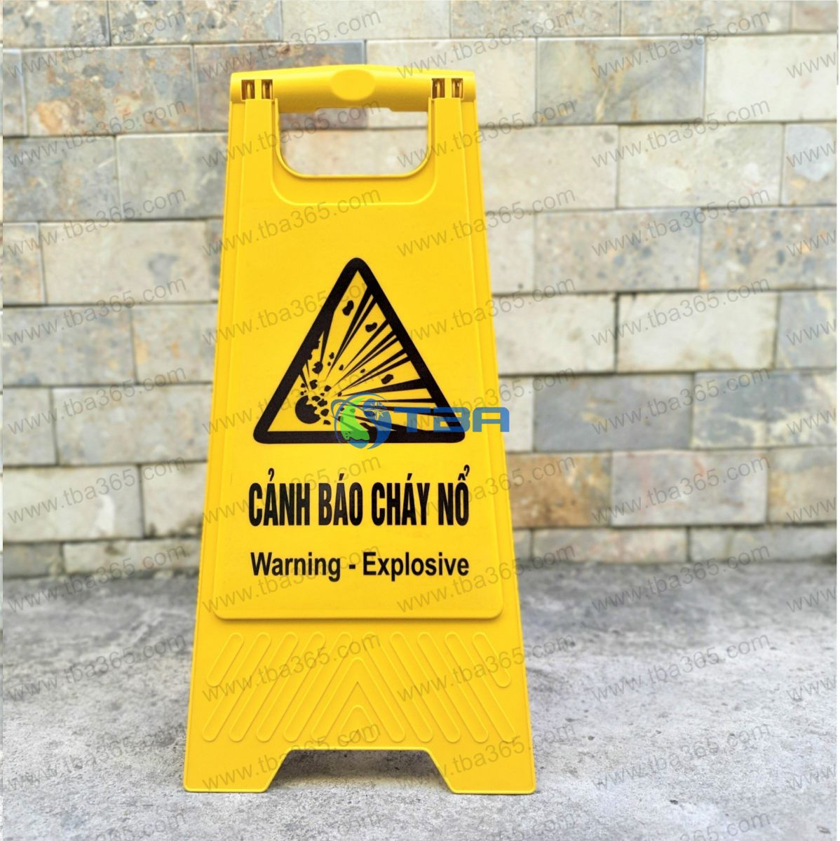 Bảng nhựa chữ A cảnh báo khu vực CHÁY NỔ