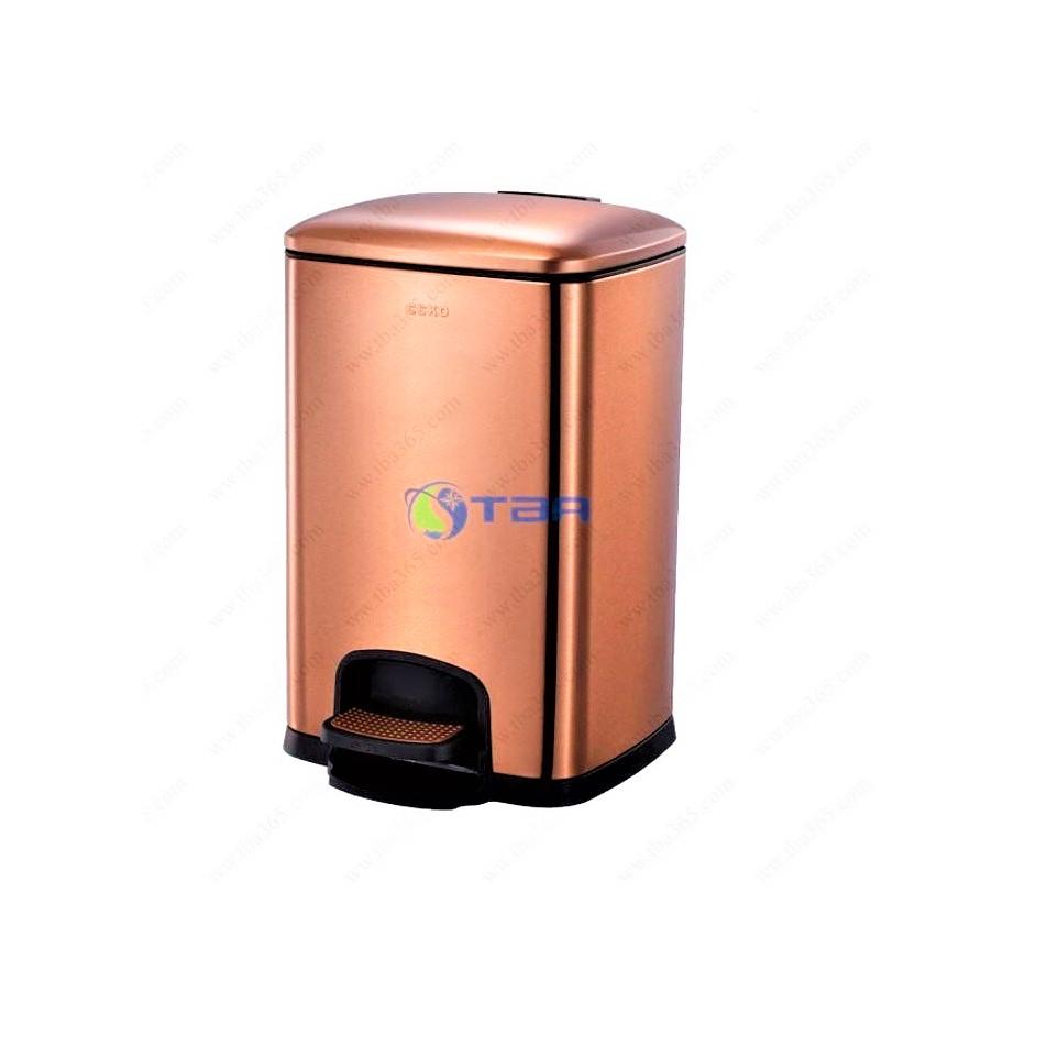 Thùng rác Inox mạ vàng đồng CCKO 12 Lít