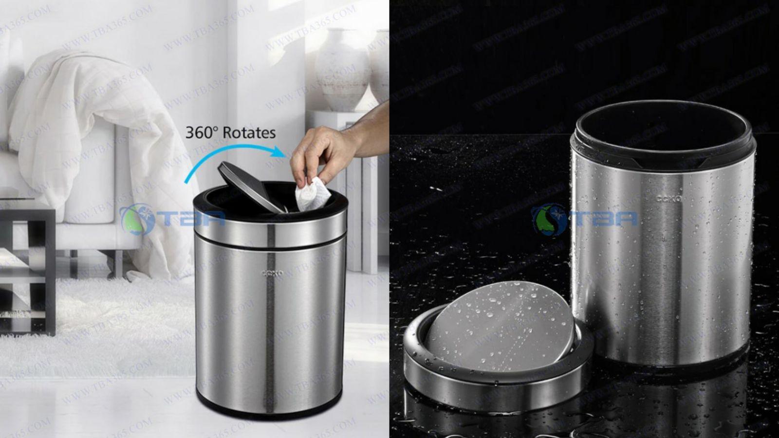 Thùng rác cao cấp nắp lật 6L CCKO cho nhà hàng