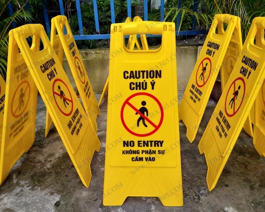 Biển báo chữ A cảnh báo khu vực cấm vào