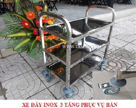 Xe đẩy inox 3 tầng - TBA365