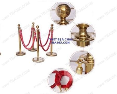 Cột chắn inox dây trùng mạ vàng- TBA365