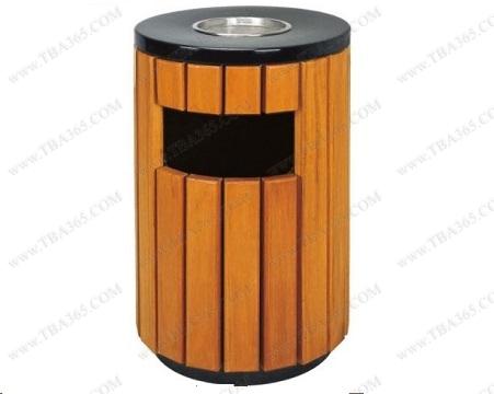 Thung rác tròn bọc gỗ