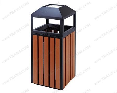 thùng rác bọc gỗ vuông đầu thép